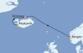 Itinéraire de la croisière Exploration polaire 10 jours à bord du Le Bellot