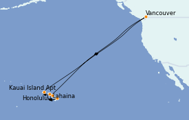 Itinéraire de la croisière Hawaii 17 jours à bord du ms Koningsdam