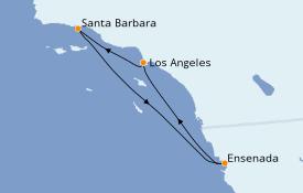 Itinerario de crucero California 5 días a bordo del Majestic Princess