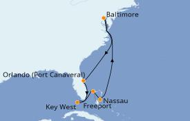 Itinéraire de la croisière Bahamas 9 jours à bord du Enchantment of the Seas