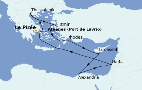 Itinéraire de la croisière Grèce & Adriatique 10 jours à bord du Celestyal Crystal