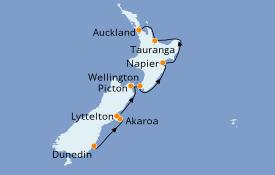Itinéraire de la croisière Australie 2021 10 jours à bord du Le Bellot