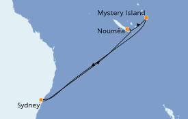 Itinéraire de la croisière Australie 2020 8 jours à bord du Ovation of the Seas