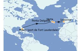 Itinéraire de la croisière Îles Canaries 13 jours à bord du Silver Moon