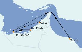 Itinerario de crucero Dubái 9 días a bordo del MSC Opera