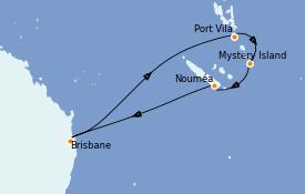 Itinéraire de la croisière Australie 2022 10 jours à bord du Quantum of the Seas