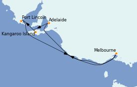 Itinéraire de la croisière Australie 2023 7 jours à bord du Grand Princess