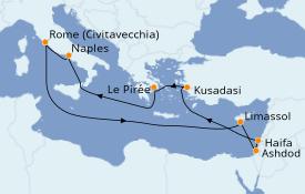 Itinéraire de la croisière Méditerranée 13 jours à bord du Explorer of the Seas