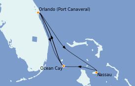 Itinerario de crucero Bahamas 7 días a bordo del MSC Divina