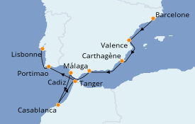 Itinerario de crucero Mediterráneo 10 días a bordo del Silver Spirit