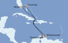 Itinéraire de la croisière Caraïbes de l'Est 9 jours à bord du Independence of the Seas