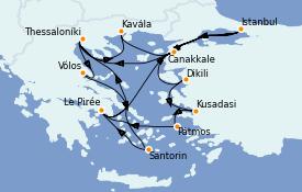Itinéraire de la croisière Grèce & Adriatique 15 jours à bord du Celestyal Experience