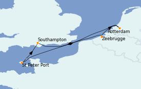 Itinéraire de la croisière Îles Britanniques 6 jours à bord du Regal Princess