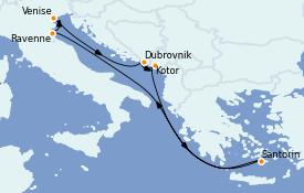 Itinéraire de la croisière Méditerranée 8 jours à bord du ms Westerdam