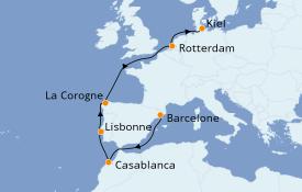 Itinéraire de la croisière Méditerranée 11 jours à bord du MSC Splendida