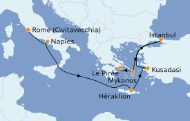 Itinéraire de la croisière Grèce & Adriatique 8 jours à bord du Discovery Princess