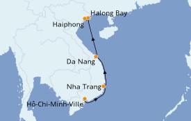 Itinéraire de la croisière Asie 8 jours à bord du Le Lapérouse