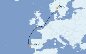 Itinéraire de la croisière Méditerranée 7 jours à bord du Le Dumont d'Urville