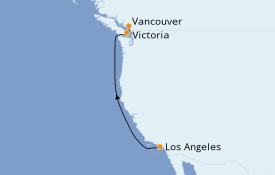 Itinéraire de la croisière Alaska 5 jours à bord du Pacific Princess