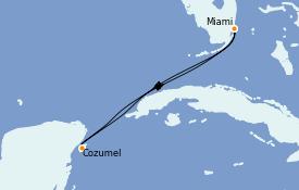 Itinéraire de la croisière Caraïbes de l'Ouest 5 jours à bord du Celebrity Summit