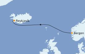 Itinéraire de la croisière Fjords & Norvège 4 jours à bord du Le Champlain