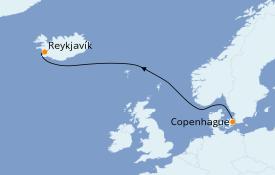 Itinéraire de la croisière Mer Baltique 5 jours à bord du