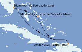 Itinerario de crucero Caribe del Este 6 días a bordo del ms Nieuw Amsterdam