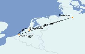 Itinéraire de la croisière Mer Baltique 6 jours à bord du Queen Mary 2
