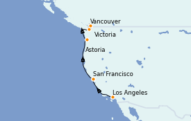 Itinéraire de la croisière Canada 7 jours à bord du Grand Princess