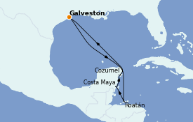 Itinerario de crucero Caribe del Oeste 8 días a bordo del Independence of the Seas