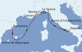 Itinéraire de la croisière Méditerranée 8 jours à bord du Celebrity Apex