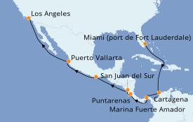 Itinerario de crucero Riviera Mexicana 16 días a bordo del Emerald Princess