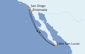 Itinéraire de la croisière Riviera Mexicaine 6 jours à bord du Norwegian Jewel