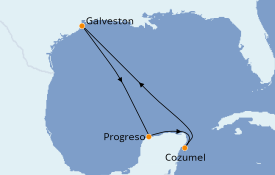 Itinéraire de la croisière Caraïbes de l'Ouest 6 jours à bord du Enchantment of the Seas