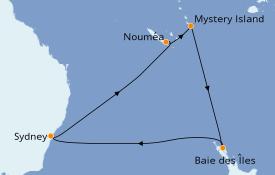 Itinéraire de la croisière Australie 2020 11 jours à bord du Ovation of the Seas