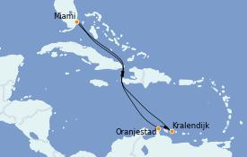 Itinéraire de la croisière Caraïbes de l'Est 9 jours à bord du Carnival Celebration