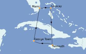 Itinéraire de la croisière Caraïbes de l'Ouest 7 jours à bord du Explorer of the Seas