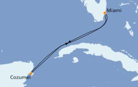 Itinéraire de la croisière Caraïbes de l'Ouest 5 jours à bord du Celebrity Infinity
