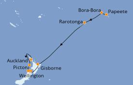 Itinéraire de la croisière Australie 2020 17 jours à bord du Azamara Journey