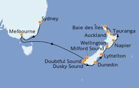 Itinerario de crucero Australia 2023 13 días a bordo del Norwegian Spirit