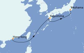 Itinéraire de la croisière Asie 6 jours à bord du Silver Shadow