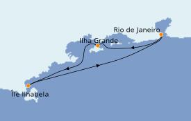 Itinéraire de la croisière Amérique du Sud 4 jours à bord du MSC Preziosa