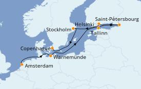 Itinéraire de la croisière Mer Baltique 11 jours à bord du Norwegian Jade
