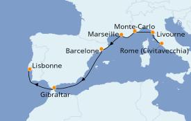 Itinéraire de la croisière Méditerranée 8 jours à bord du Azamara Quest