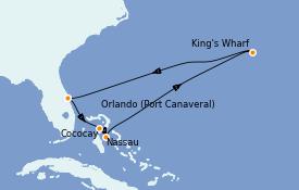 Itinéraire de la croisière Bahamas 9 jours à bord du Mariner of the Seas