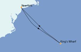 Itinéraire de la croisière Bahamas 6 jours à bord du Norwegian Prima