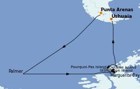 Itinéraire de la croisière Amérique du Sud 15 jours à bord du Le Commandant Charcot