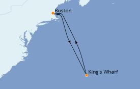 Itinéraire de la croisière Bahamas 8 jours à bord du Norwegian Gem