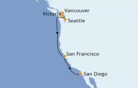 Itinéraire de la croisière Alaska 10 jours à bord du Silver Cloud Expedition