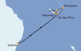Itinéraire de la croisière Australie 2022 10 jours à bord du Celebrity Eclipse
